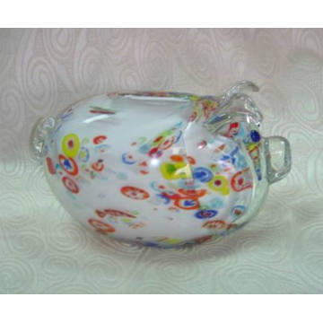 Glass Piggy Money Bank (07G102502)