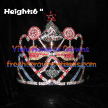 6inch Candy Rhinestones Crowns With Christmas Tree