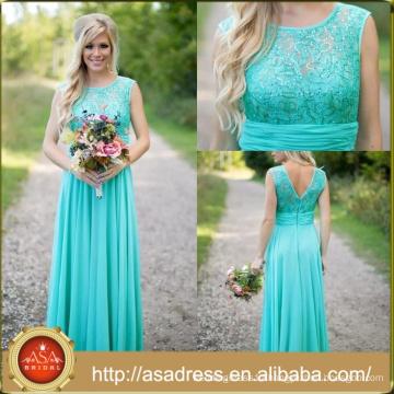 BDY03 Latest Lace Turquoise Bridesmaid dresses/Prom dresses Wholesale