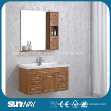 Wall Mounted Solid Wood Bathroom Cabinet with Sink