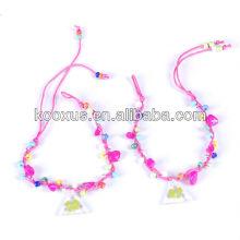 Hand-weaved four leaf clover bracelet/bangle
