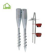 Factory ground earth screw anchor for fencing systems