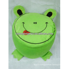 Hot sale environmental PVC liner animal plush frog Inflatable stools