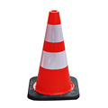 45cm Soft Flexible PVC road warning traffic cones