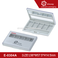 5 color rectangle eyeshadow palette empty display case