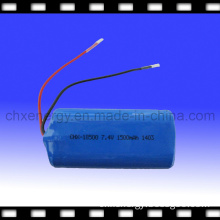 Rechargeable Lithium Ion Battery Pack 7.4V 1500mAh (18500)