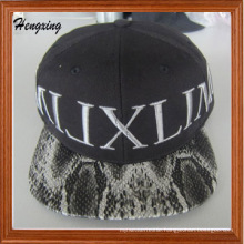 Fashion Custom Leather Brim Snapback Hat