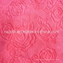 Flores cortadas Telas de vellón coralino para textiles para el hogar