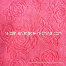 Cut Flowers Coral Fleece Fabrics for Home Textile