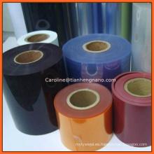 Colorido plástico rígido de PVC Hoja de muebles de vacío de termoformado PVC película