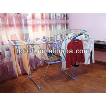 Alumínio roupas de secagem rack stand vestuário dobrável rack