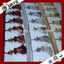 Productos de liquidación Poliéster Home Textile Curtain Trims Frascos de borla