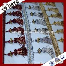 Produtos de acabamento Poliéster Têxtil doméstico Tiras de cortina Tassel Fringes