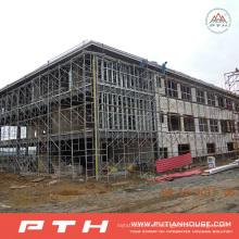 Almacén de estructura de acero diseñado industrial profesional prefabricado