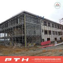 Entrepôt préfabriqué industriel de structure métallique de conception de construction