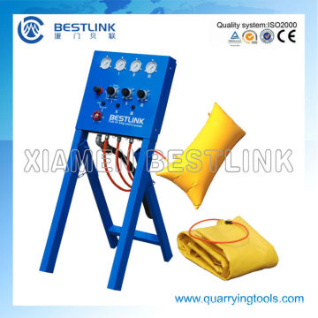 Block Air Bag Pushing Unit for Separating Stone