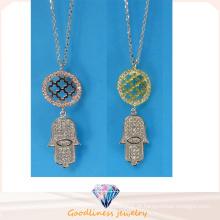 Alta qualidade e venda quente moda jóias colar de prata esterlina jóias N6778