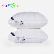 Roupa de cama / Confortável hotel branco cama de pato para baixo travesseiro