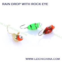 Top Garde Tungsten Ice Jig Atacado Rain Drop com Rock Eye