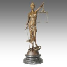Mito Figura Bronce Escultura Justicia Diosa Deco Latón Estatua TPE-438