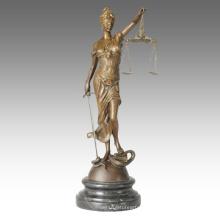 Mythe Figure Sculpture en bronze Justice Déesse Deco en laiton Statue TPE-438
