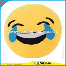 Hot Selling Novelty Design Almofada encantadora EmojiPlush com Expressão Facial