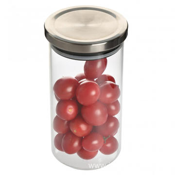Metal lid circle airless food jar