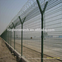 airport welded wire fence concertina fence on top for security fence
