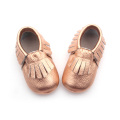 Kasut Kapas Baju Rose Gold Baby Moccasin Shoes
