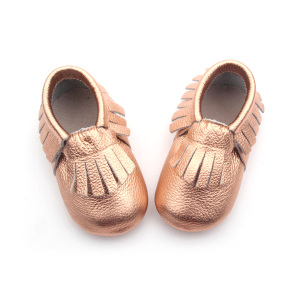 Brand Crib Skor Rose Gold Baby Moccasin Shoes
