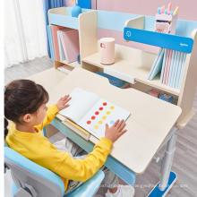 Escritorio de estudio con estantería, mesa para niños, silla
