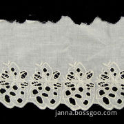 Cut-out Embroidery Fabric Lace Trim, Available in Various Designs