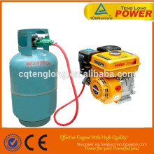 China mejor 7hp multi-fuction super potencia gasolina GLP motor del keroseno para la venta