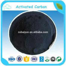 Prix de carbone activé par poudre en vrac de formule chimique par tonne / noir de carbone