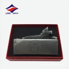 Изысканный персонализированные держатель визитной карточки металла на рабочий стол