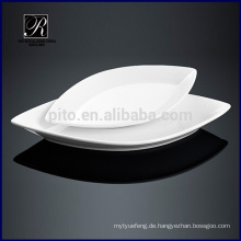 Keramikplatte Geschirr ovale Platte Blattform Platte