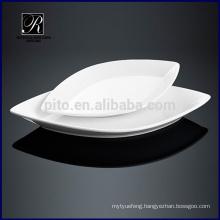 Ceramic plate dinnerware oval plate leaf shape plate