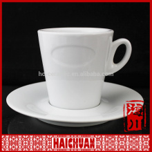 Porcelain gold-plated cup and saucer