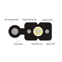 12core Fig8 FTTH Drop Optic Fiber Cable