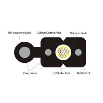 Cable de Fibra Óptica de Fijación Fig8 FTTH 12core