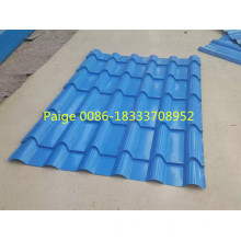 Hochwertige verglaste Stahl Fliesen Roll Umformmaschine