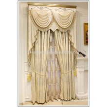 Indian style jacquard sheer curtain beaded valance curtains