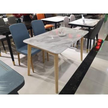 Custom 6 Seater Modern Design Marble Dining