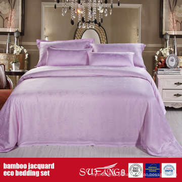 Conjunto de cama de bambu Bambu Fiber Jacquard Bed Linen Hotel