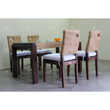 2017 Contemporary Design Water Hyacinth Coffee and Dining Set Wicker Furniture