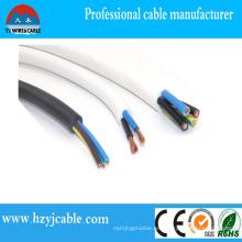 Cable plano del cable de la envoltura del PVC del conductor del cobre / CCS / CCA De Ningbo