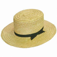 Men's Straw Hat, Made of Natural Straw, Wheat Straw