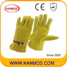 Verstellbarer Riemen Rindsleder Industriesicherheit Leder Fahrer Arbeitssicherheit Handschuhe (12205)