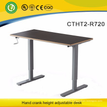 Oshawa Manual lifting desk Rocker arm lifting office furniture Sit Standing by freedom away from sub-health