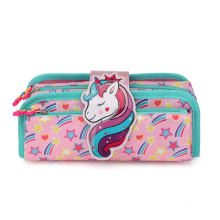 Newest Fashion large capacity cartoon roll up pencil bag School Stationery Pencil case for kids